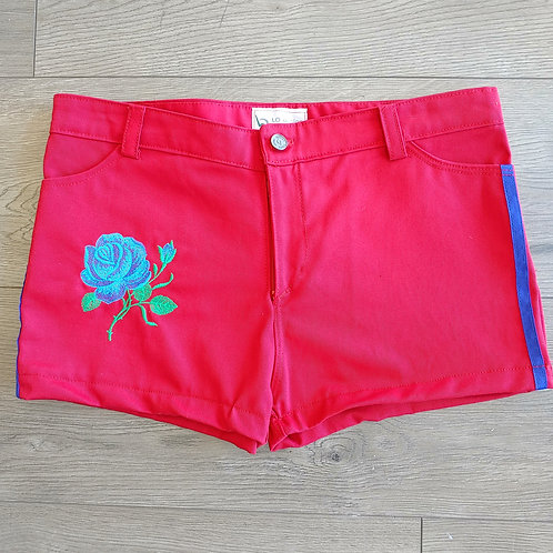 RED STRIPES DETAIL SHORTS