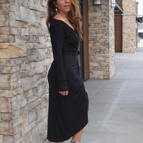 Surplice Midi Dress
