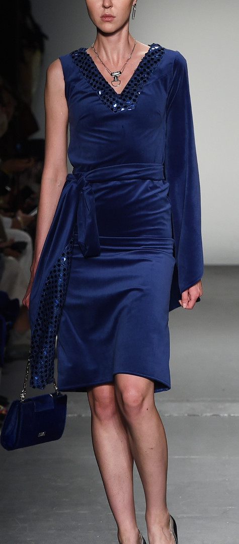 The Azurite Velvet Asymetric Dress F|W R