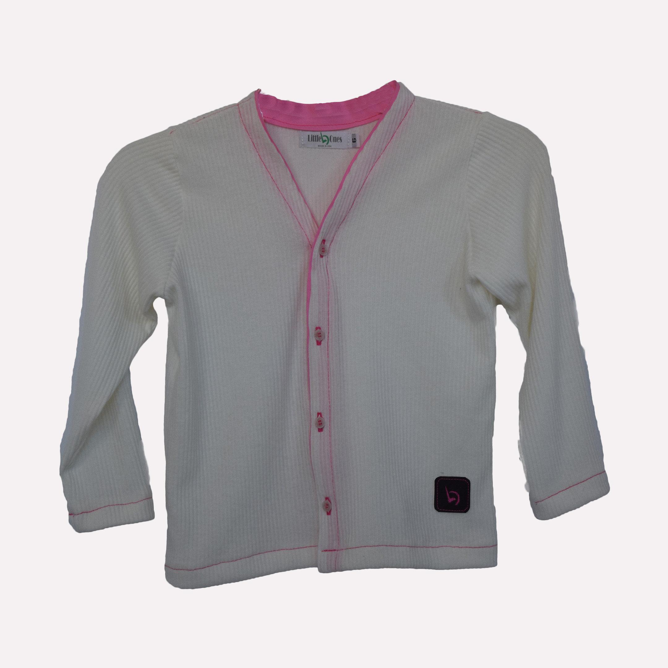 Children's clothing | LO design | United States | White Cardigan
