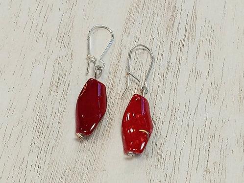 Red Charm Earrings