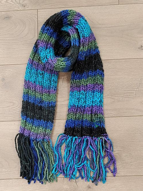 Handmade Multicolor Fringed Scarf