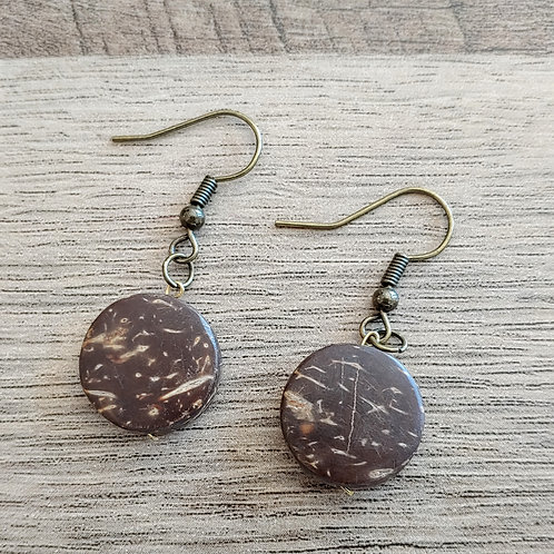 ROUND COCO DROP EARRINGS