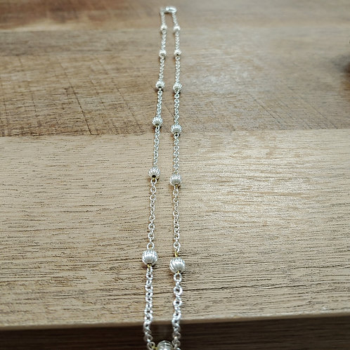 ROUND SILVER BEAD NECKLACE