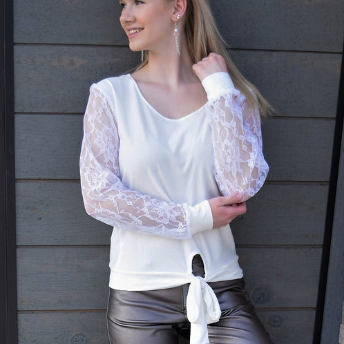 LACE SLEEVE DETAILED BLOUSE