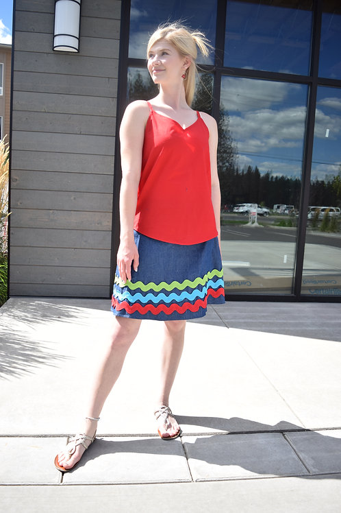 COLOR WAVES SKIRT