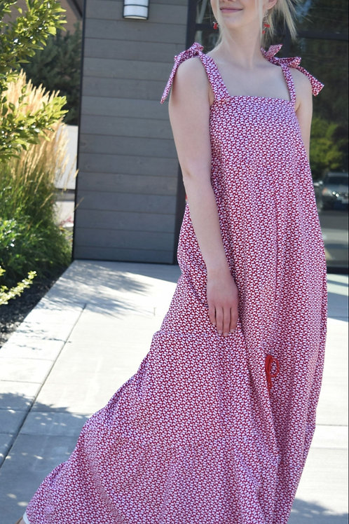 Gingham Tiered Maxi Dress