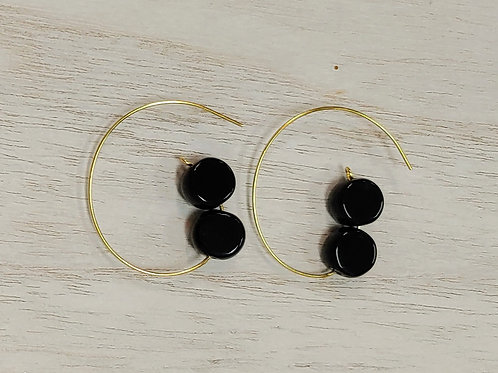 Beaded G Earrings