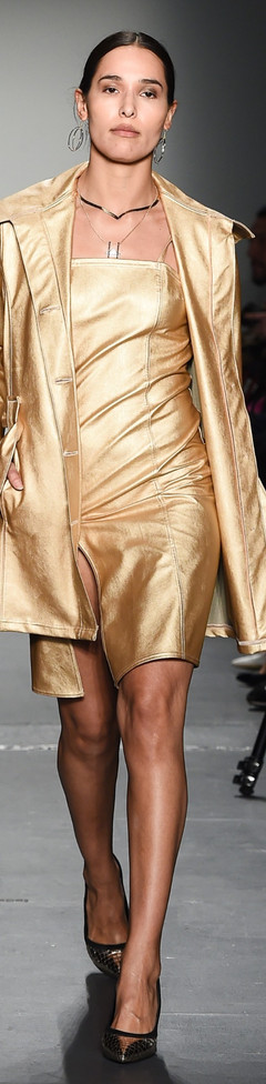 The Gold Leather Dress and Trenchcoat F|