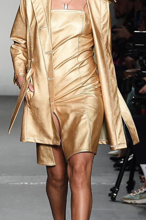 GOLD TRENCH STYLE COAT