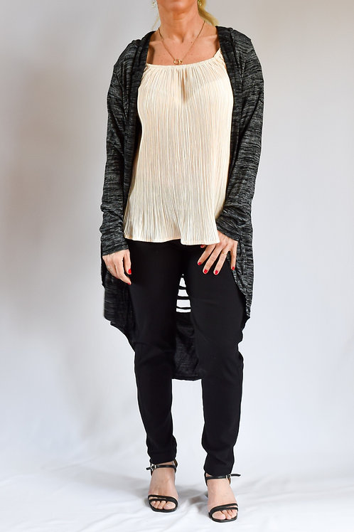Hooded Cut off Light Cardigan