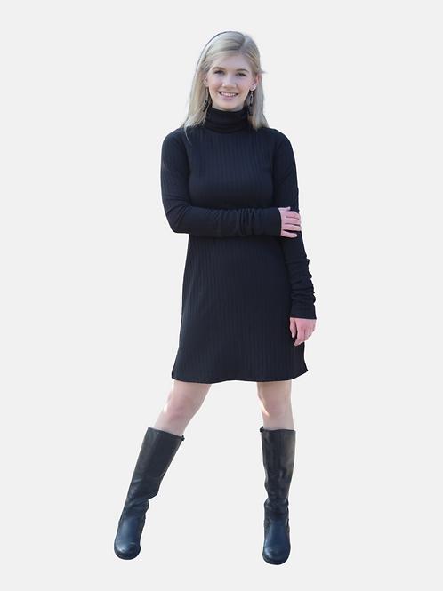TURTLENECK SLIT DRESS