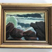 "Big Swell, West Coast 8x10"" (oil on canvas board)"