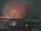 Pink Moonrise Over River Derwent