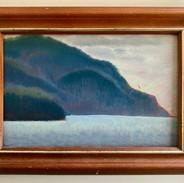 Blue Bluffs, Eaglehawk Neck 4x6 (oil on board)