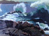 Crashing Waves, Granville Harbor