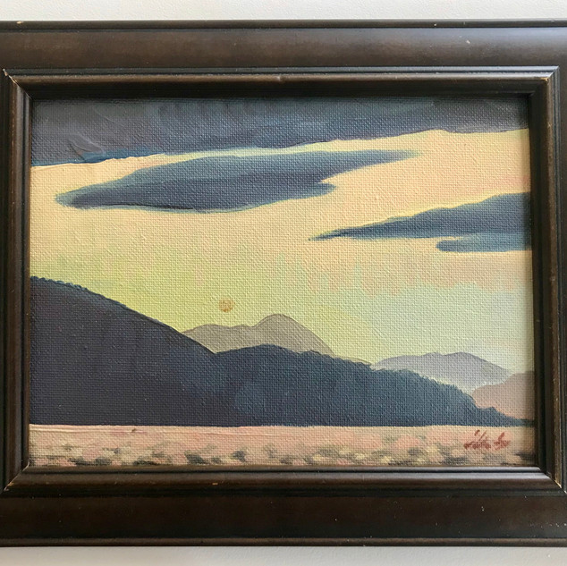"""Derwent River Sunset 8x10"""" (oil on canvas board)"""