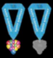 Happy Birthday 5K Medal With Ribbon 2-20