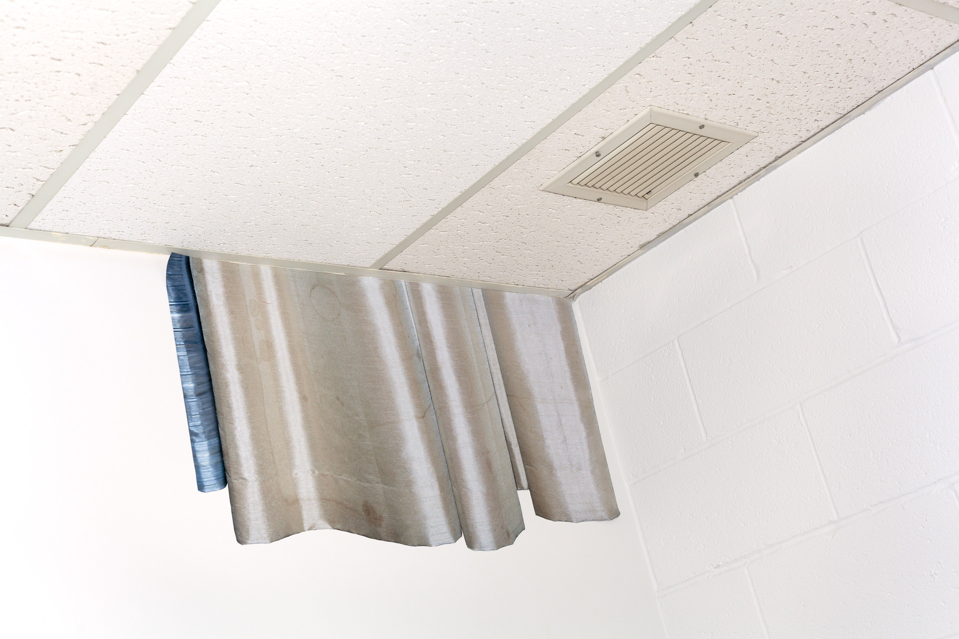 Remodel (drop-tile ceiling curtain)