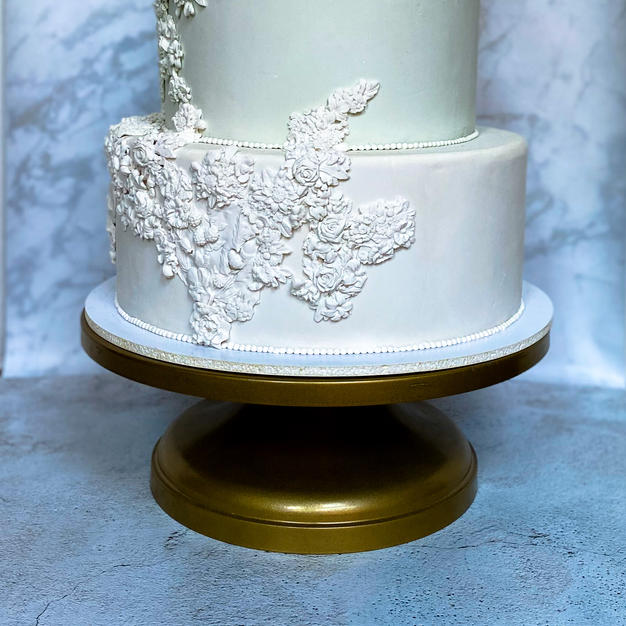 "14"" Gold Pedestal Cake Stand"