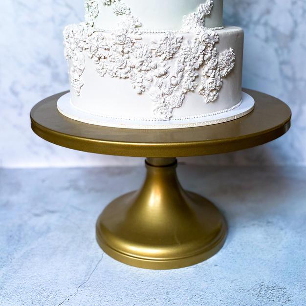 "18"" Gold Pedestal Cake Stand"