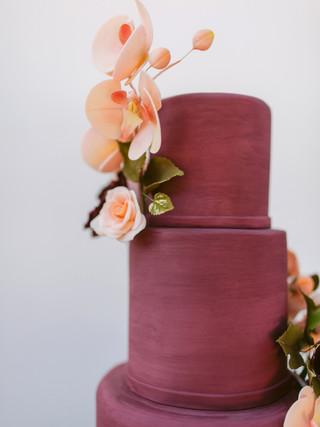 Micro Wedding Cake with Sugar Flowers