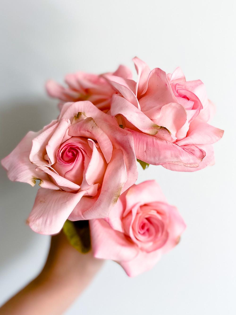Sugar Flower Roses Made of Gum Paste Samantha Mayfair Cakes