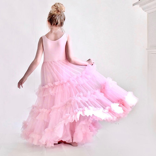 The Betsey Birthday Girl Ruffle Dress in Light Pink