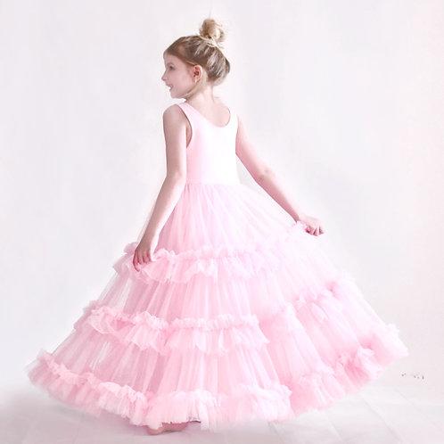 RESTOCKING - June 2021. The Betsey Birthday Girl Ruffle Dress in Light Pink