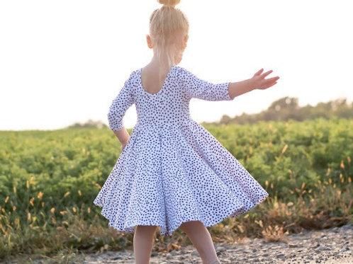 The Masie Polka Dot Ballerina Casual Dress
