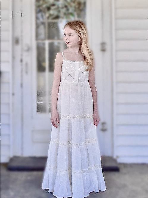 Coming in June - Sweet Magnolia Ivory Maxi Toddler Girl Dress.