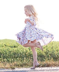 The Cassie Ballerina Dress in Boho Floral