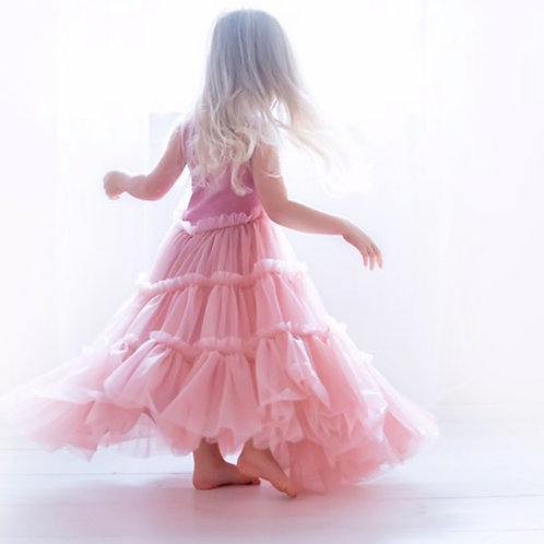 The June Twirl Dress in Blush Pink.  (Toddler and Adult Sizing)