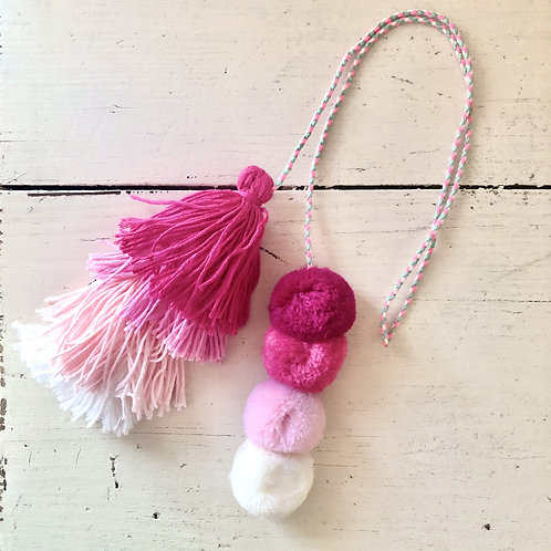 Pretty in Pink Ombre Backpack Charm