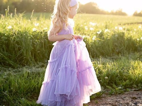 Lavender Stardust Toddler Girl Twirl Dress