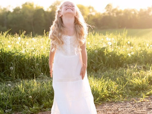 Sweet Magnolia Ivory Maxi Toddler Girl Dress.