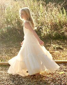 The Jessa Boho Twirl Dress in Ivory