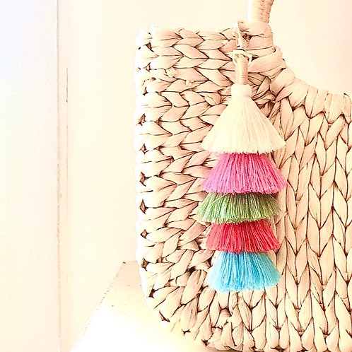 Over the Rainbow Tiered Purse Charm