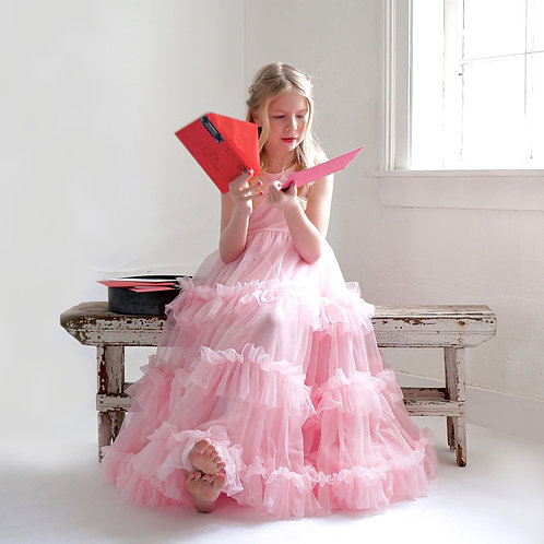 The Betsey Birthday Girl Ruffle Dress in Light Pink