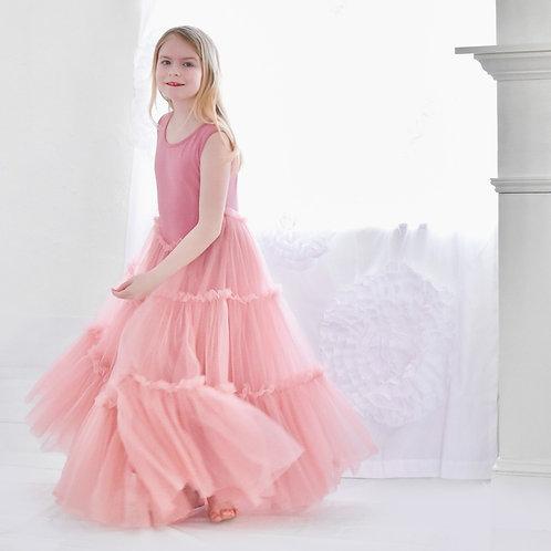 Bestseller - The June Twirl Dress in Blush Pink.