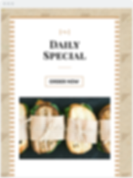Daily Special Email Template