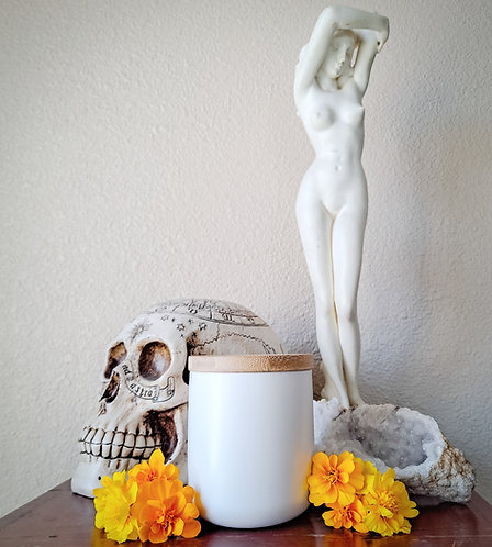 White Ceramic Soy Candle