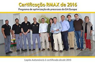 Certificação Rmax - 2016