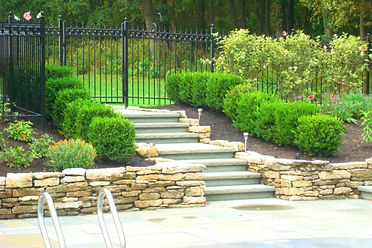 Retaining Wall, patio, landscape design
