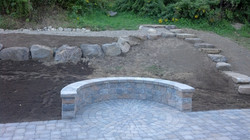 Circular patio inset with sitting