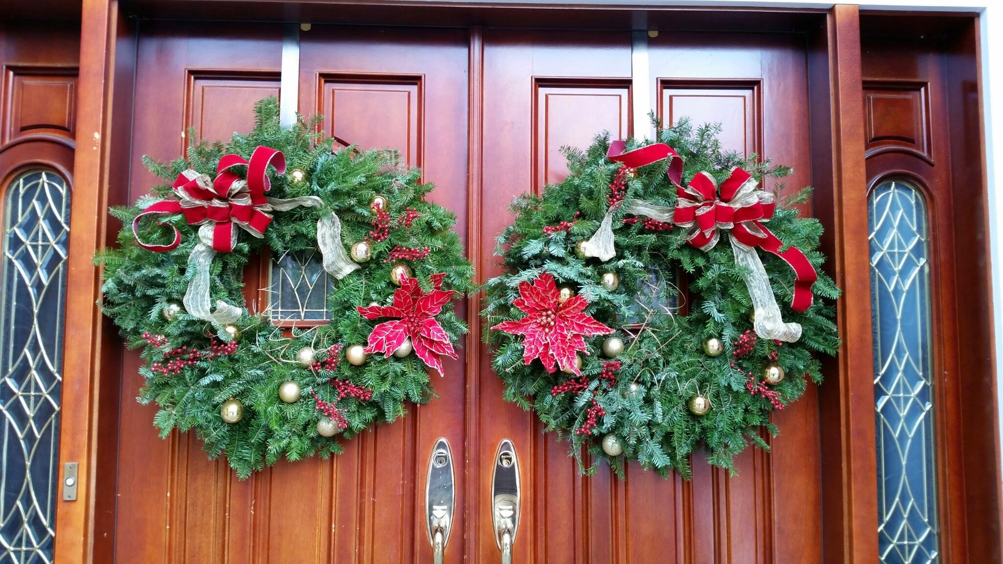 matching wreaths