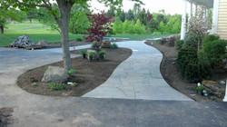 irregular blue stone paths
