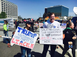 Two members attend a Trump Rally in 2016
