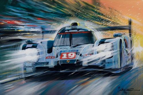 Limited Edition Print Porsche 919 - 2015 Winner of the 24 Heures du Mans