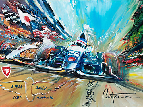 2017 Indy 500 Live from Indianapolis (signed by Takuma Sato)